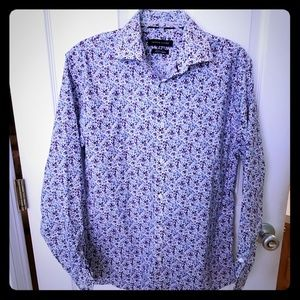 Tommy Hilfiger purple floral button down shirt